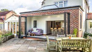 Grey Bifold Doors Northamptonshire