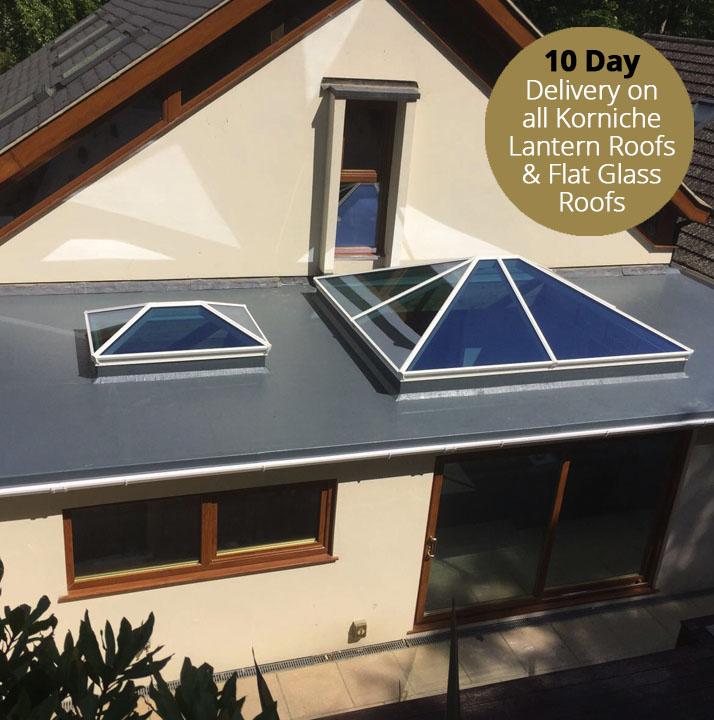Korniche Lantern & Glass Flat Roof Suppliers Northamptonshire